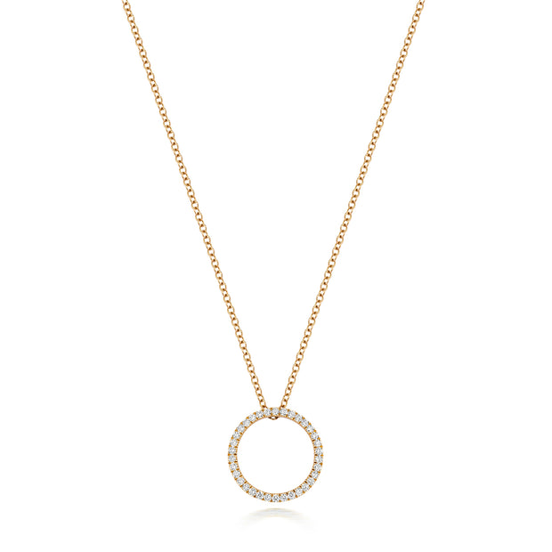 0.27ct Diamond Necklace in 18K Gold