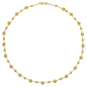 9K Yellow Gold Bead Necklace