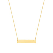 9K Yellow Gold Horizontal Bar Necklace