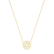 9K Yellow Gold Mandala Necklace
