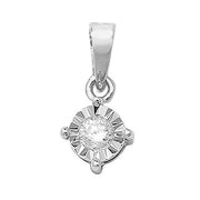 0.10ct Diamond Pendant in 9K Gold