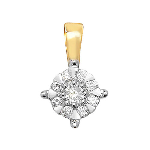 0.18ct Diamond Pendant in 9K Gold