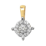 0.30ct Diamond Pendant in 9K Gold