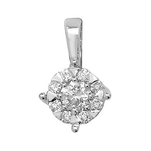 Diamond Pendant in 9K White Gold