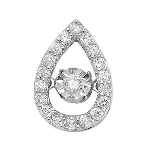 0.25ct Diamond Pendant in 9K White Gold