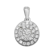 0.24ct Diamond Pendant in 9K White Gold