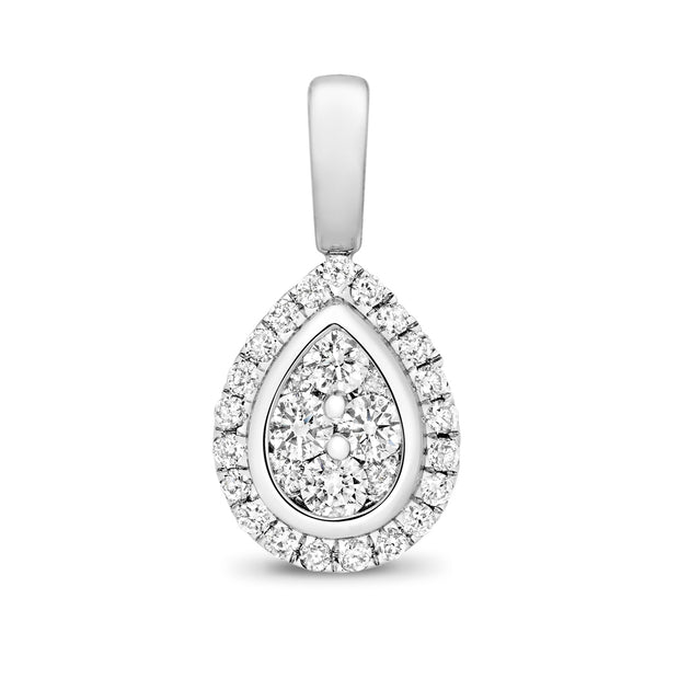 0.23ct Diamond Pendant in 9K White Gold
