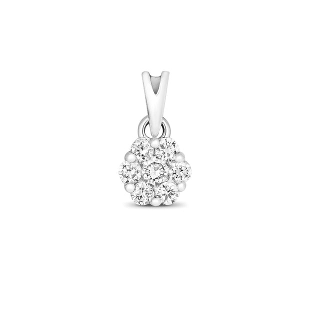 0.15ct Diamond Pendant in 9K White Gold