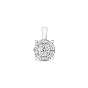 0.19ct Diamond Pendant in 9K White Gold