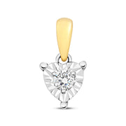 0.06ct Diamond Pendant in 9K Gold