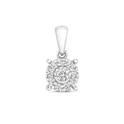 0.20ct Diamond Pendant in 9K White Gold