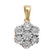 0.25ct Diamond Pendant in 9K Gold