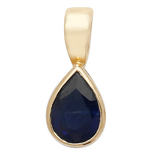 7X5MM Sapphire Pendant in 9K Gold
