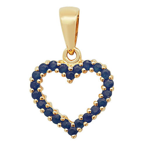 0.62ct Sapphire Pendant in 9K Gold