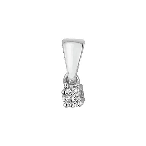 0.05ct Diamond Pendant in 9K White Gold