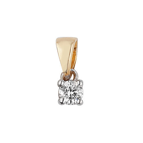 Diamond Pendant in 9K Gold