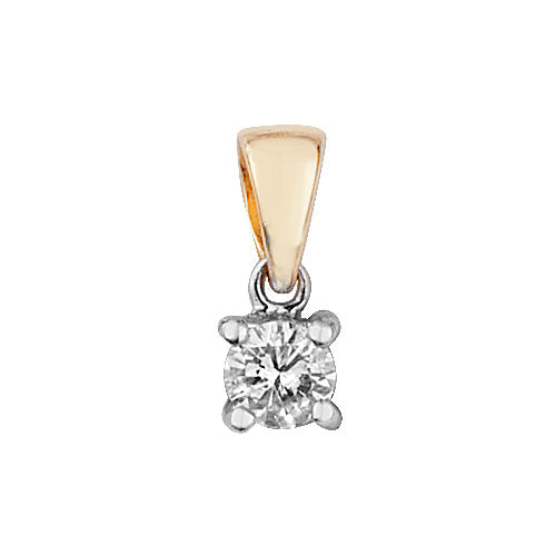 0.15ct Diamond Pendant in 9K Gold