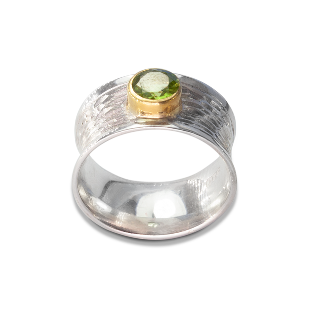 Peridot Ring in GoldPlStSlvr 0.94ct