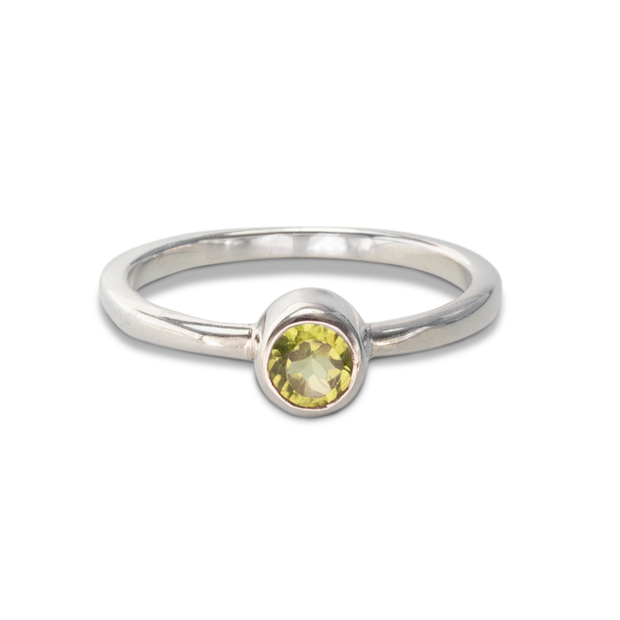 Peridot Ring in Sterl.Silver 0.42ct