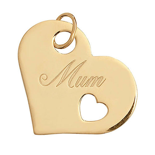 9K Yellow Gold Ladies' Mum Pendant
