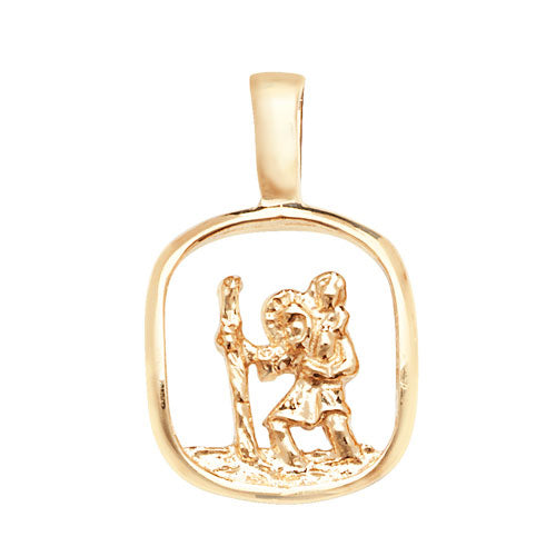 9K Yellow Gold St Christopher Pendant