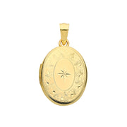9K Yellow Gold Oval Locket