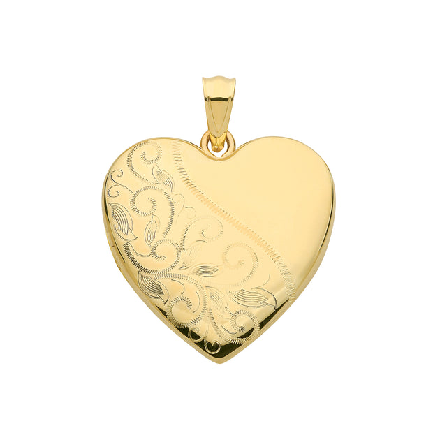 9K Yellow Gold Heart Locket