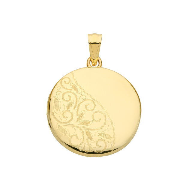 9K Yellow Gold Round Locket