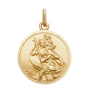 9K Yellow GoldRoundSt Christopher Pendant