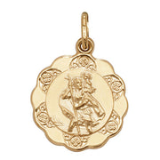 9K Yellow Gold St Christopher Hollow Pendant