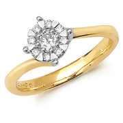 0.30ct Diamond Ring in 9K Gold