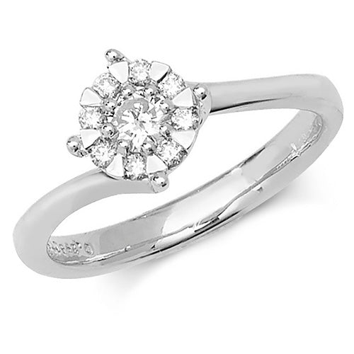 0.30ct Diamond Ring in 9K White Gold