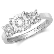0.41ct Diamond Ring in 9K White Gold