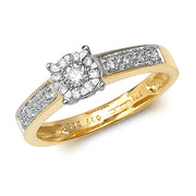 0.21ct Diamond Ring in 9K Gold