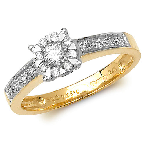 0.33ct Diamond Ring in 9K Gold