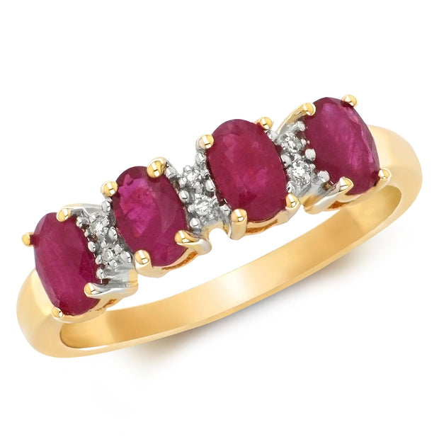 0.80ct Ruby Ring in 9K Gold