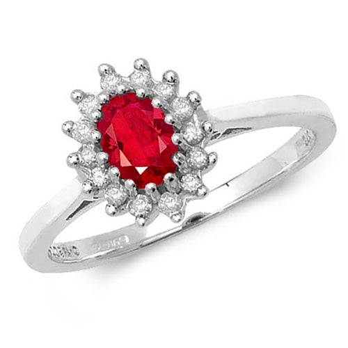 0.42ct Ruby Ring in 9K Gold