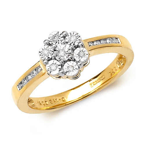 0.12ct Diamond Ring in 9K Gold