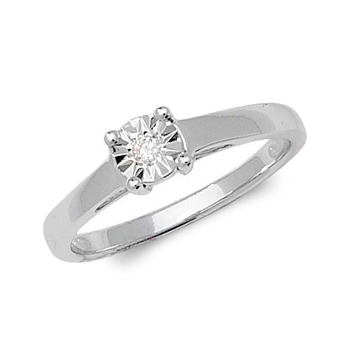 0.03ct Diamond Ring in 9K White Gold