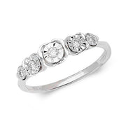 0.12ct Diamond Ring in 9K White Gold