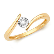 0.08ct Diamond Ring in 9K Gold