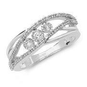 0.16ct Diamond Ring in 9K White Gold