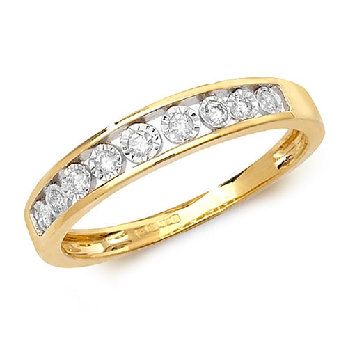 0.10ct Diamond Ring in 9K Gold