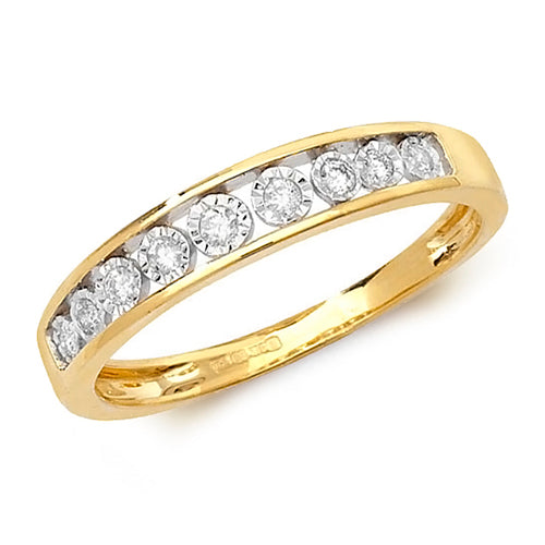 Diamond Ring in 9K Gold