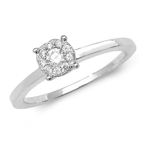 0.20ct Diamond Ring in 9K White Gold