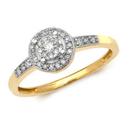 0.20ct Diamond Ring in 9K Gold