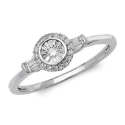0.14ct Diamond Ring in 9K White Gold