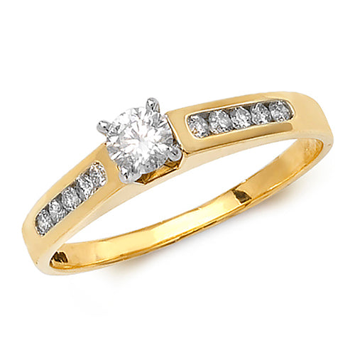 0.37ct Diamond Ring in 9K Gold