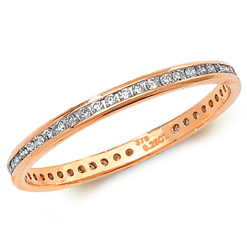 0.27ct Diamond Ring in 9K Rose Gold