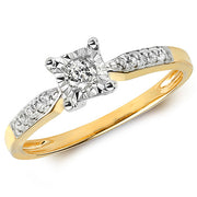 0.15ct Diamond Ring in 9K Gold